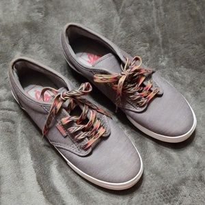 VANS GRAY SHOES AZTEC LACES NEW HARD TO FIND
